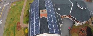 12.4kw solar electric system mounted on two roofs
