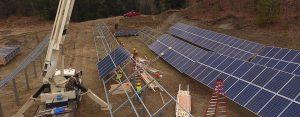 Solar power installation in Cornish, NH